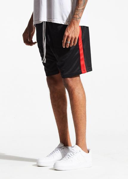 Lewis Track Shorts (Black/Red)