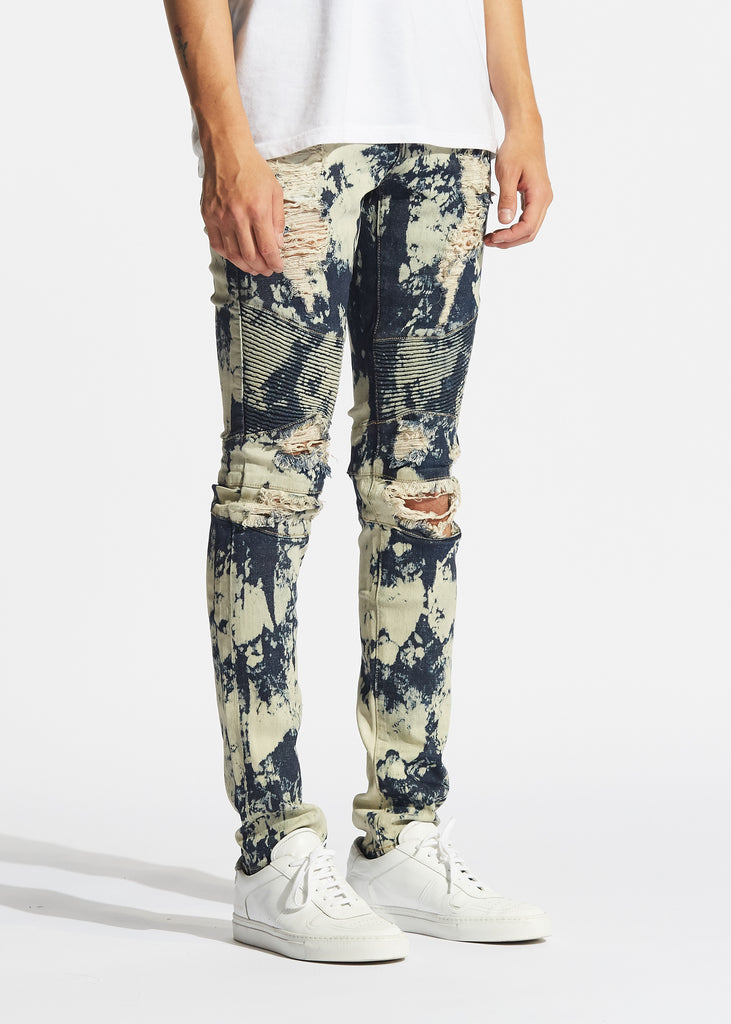 Skywalker Biker Denim (Medium Blue Bleach)