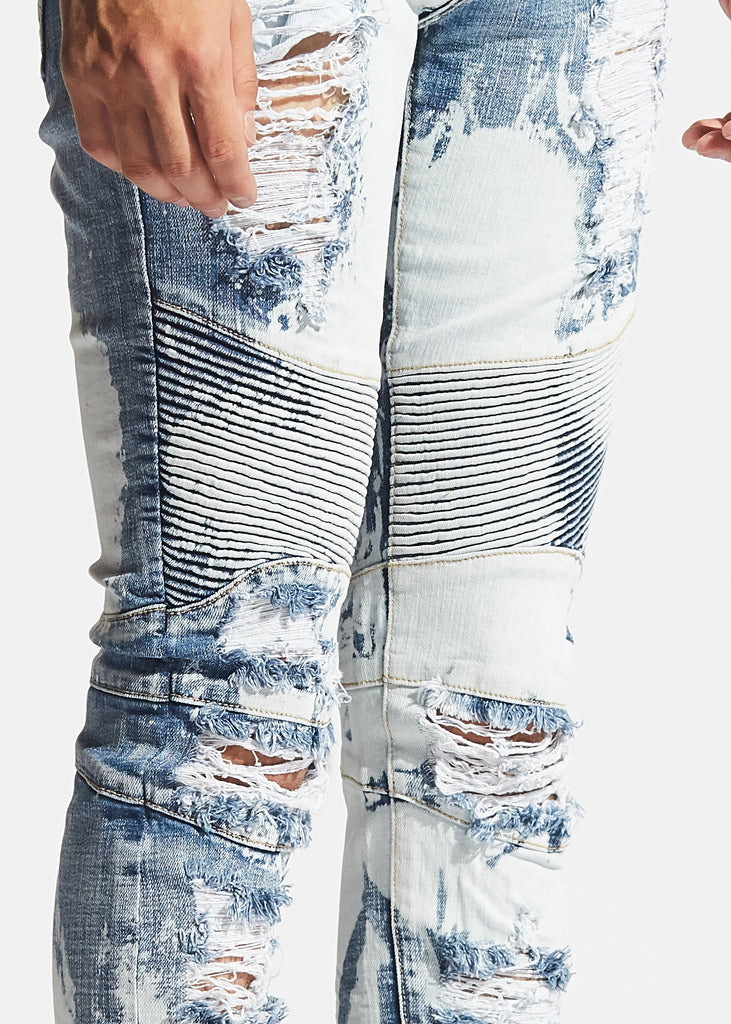 Skywalker Biker Denim (Light Blue Bleach)