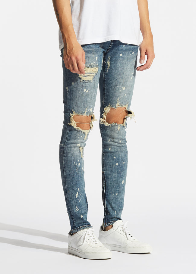 Pacific Denim (Vintage Blue Paint Ripped)
