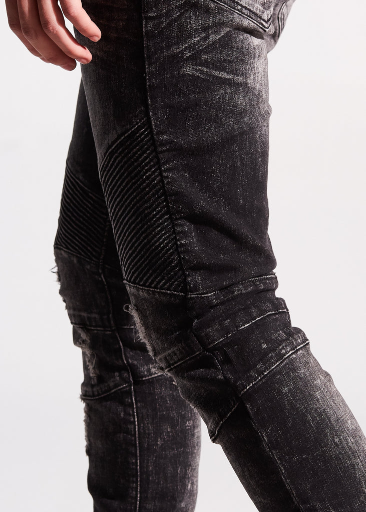 Skywalker Biker Denim (Gray Stone Wash)