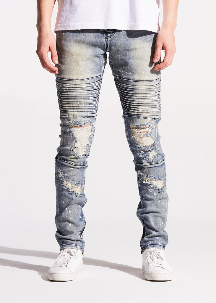 Giotto Biker Denim (Light Blue Stone)