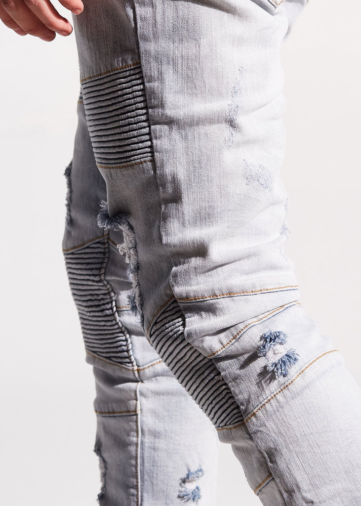 Bron Biker Denim (Light Blue)