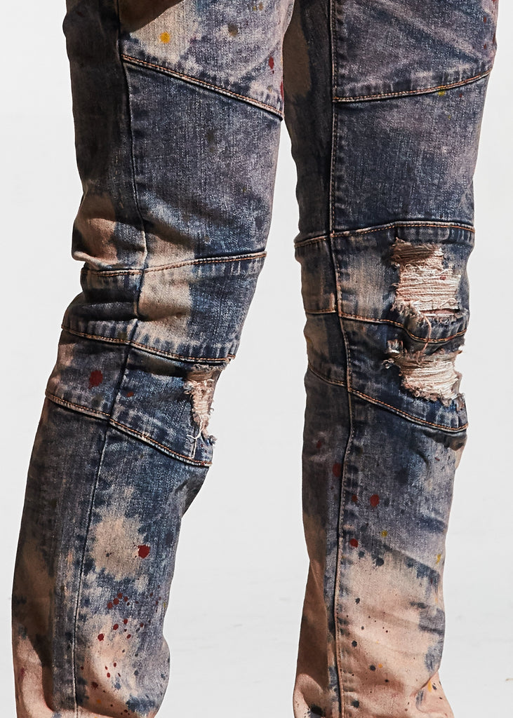 Montana Denim (Blue Paint Splatter)