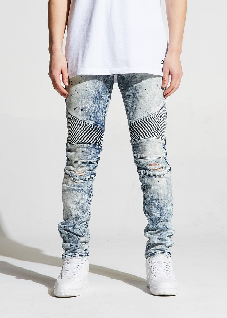 Skywalker Biker Denim (Blue Bleach)