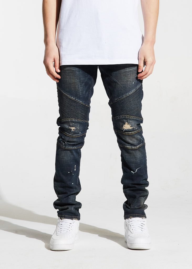 Skywalker Biker Denim (Dark Indigo)