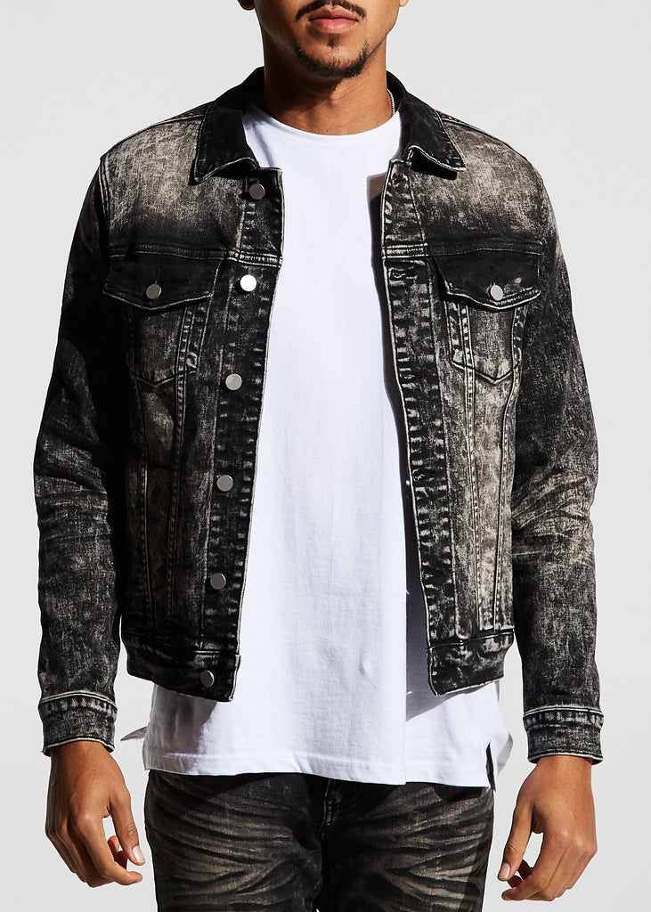 Porter Denim Jacket (Black Stone Wash)
