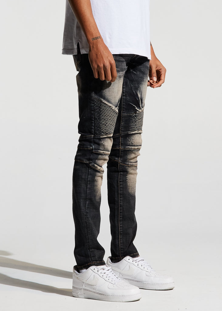Skywalker Biker Denim (Grey Wash)