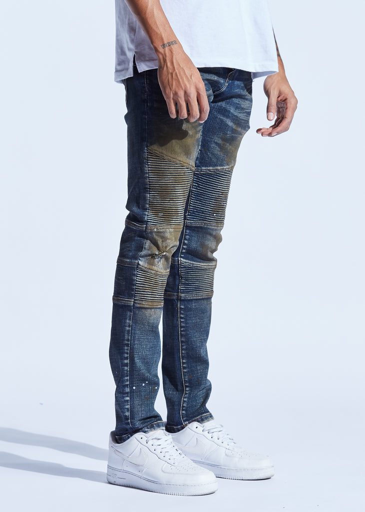 Bron Denim (Dark Indigo Rust)
