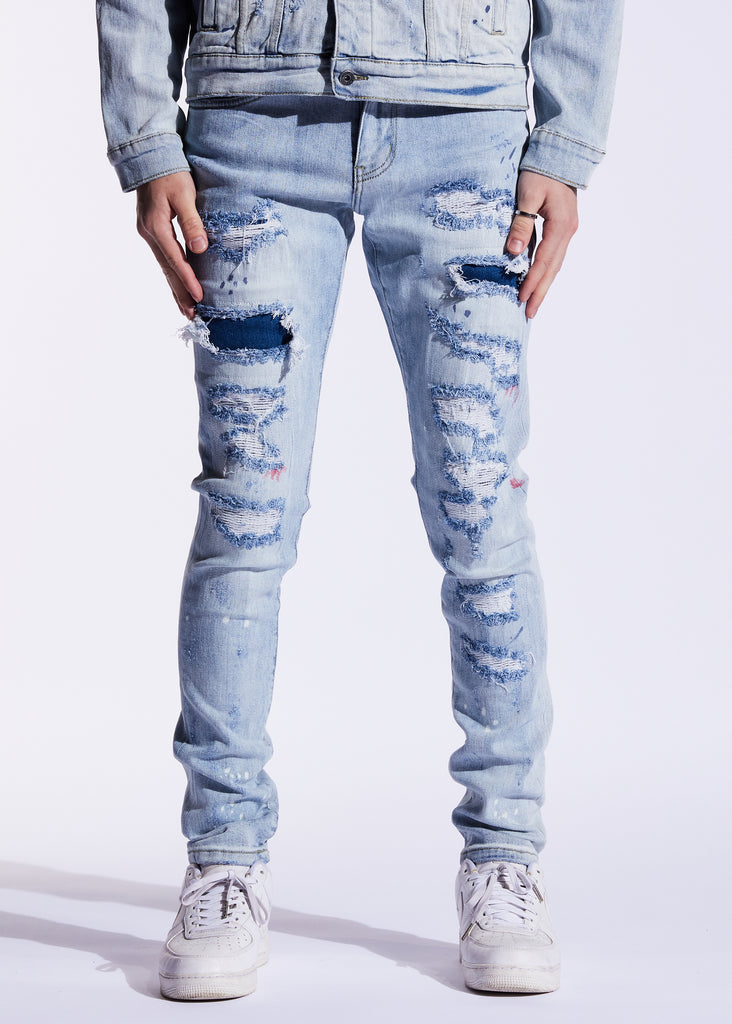 Atlantic Denim (Light Blue Patchwork)