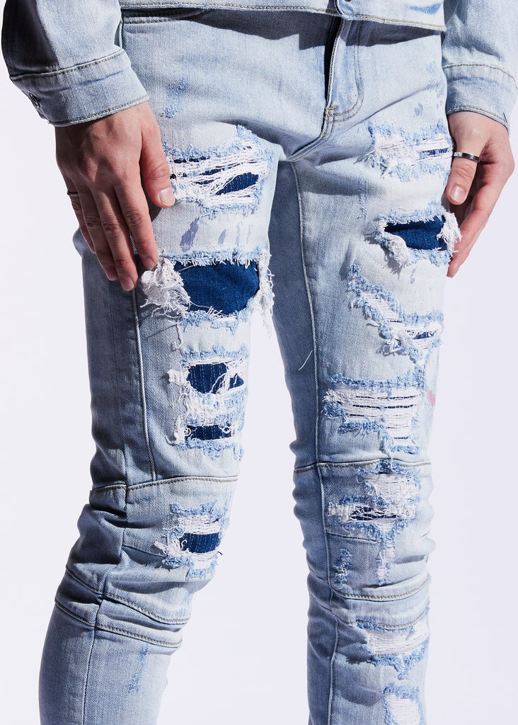 Montana 2.0 Denim (Light Blue Patchwork)