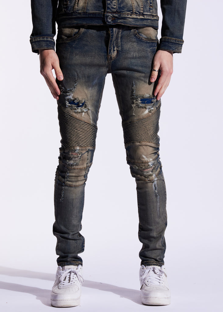 Skywalker Biker Denim (Rust)