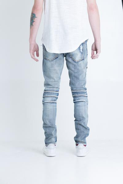 Pete Biker Denim (Blue Stone Wash)