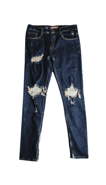 PACIFIC DENIM (DARK INDIGO RIPPED)