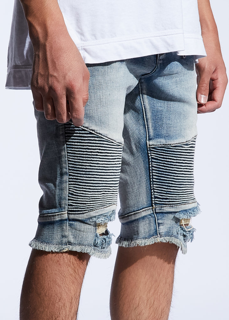 Skywalker Biker Denim Shorts