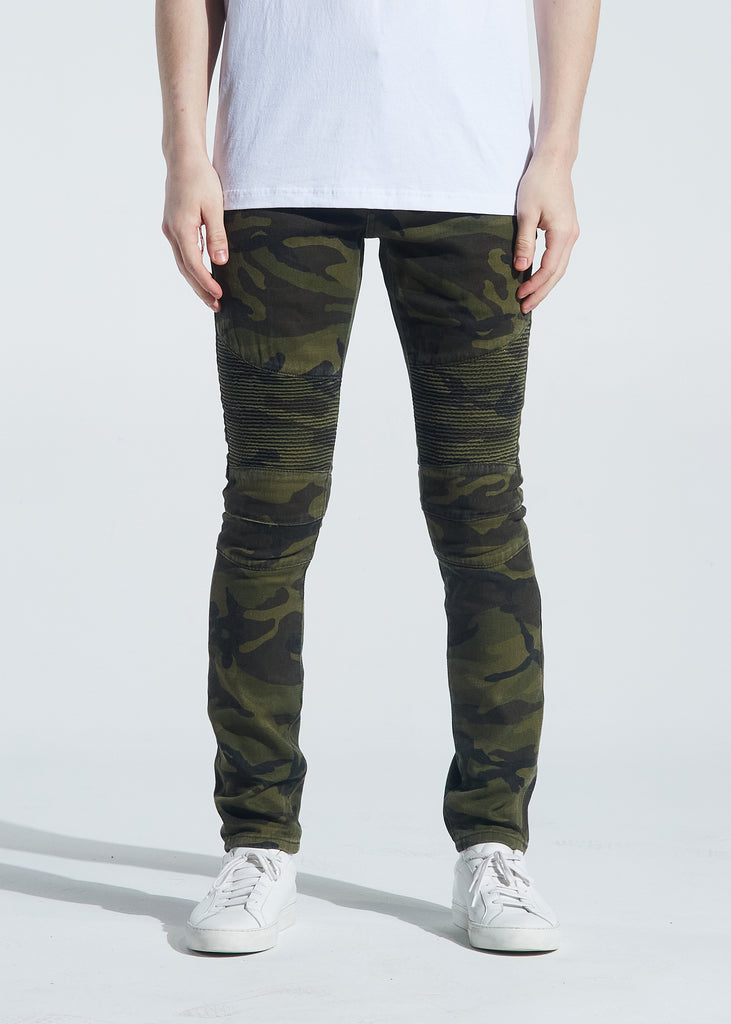 Skywalker Biker Denim (Green Camo)
