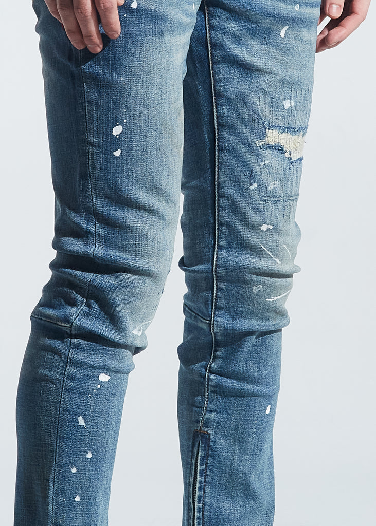 Pacific Denim (Indigo Paint Splatter)