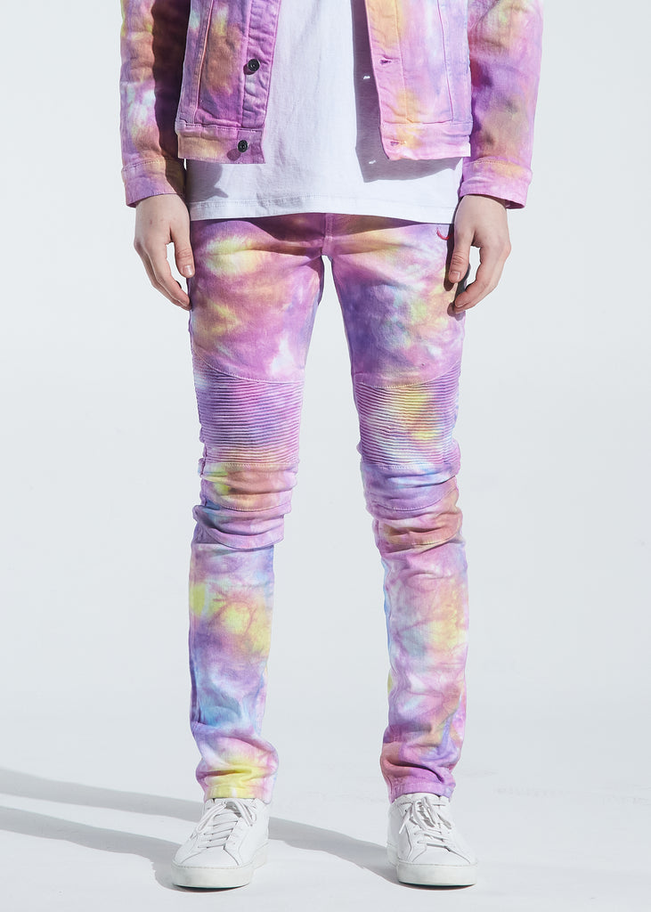Skywalker Biker Denim (Light Tie Dye)