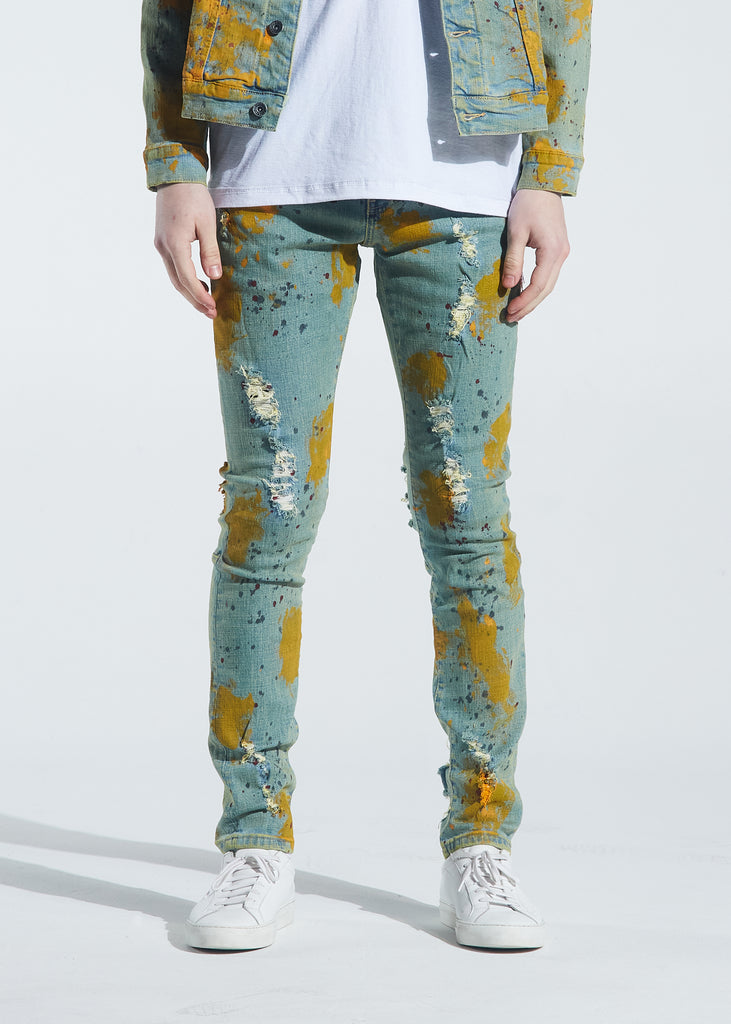 Pacific Denim (Yellow Paint Splatter)