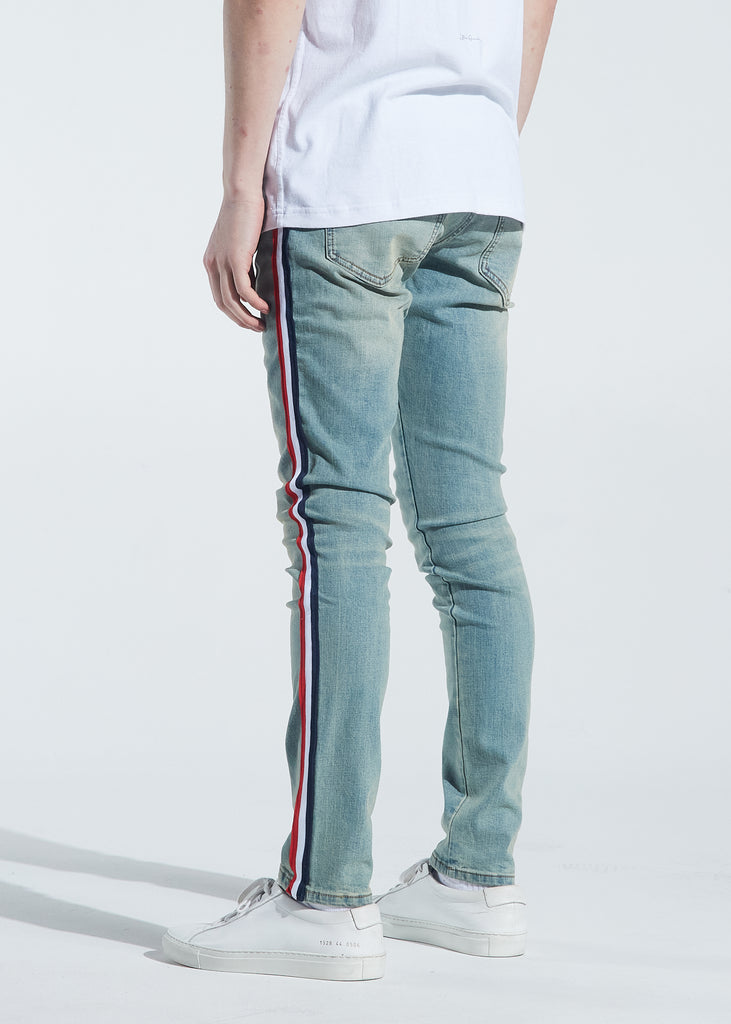 Atlantic Striped Denim (Sand Wash)