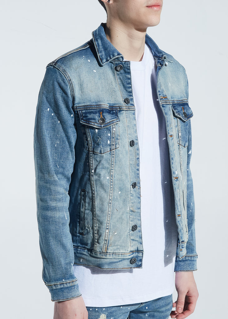 Bering Denim Jacket (Indigo Paint Splatter)