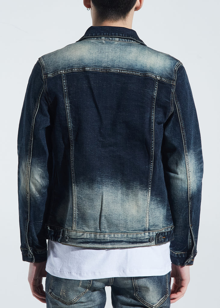 Bering Denim Jacket (Dark Indigo Fade)