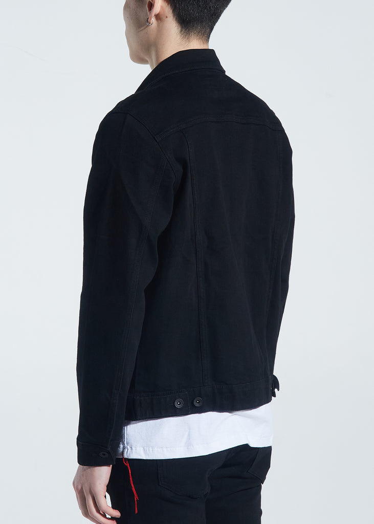 Bering Denim Jacket (Black Distressed)