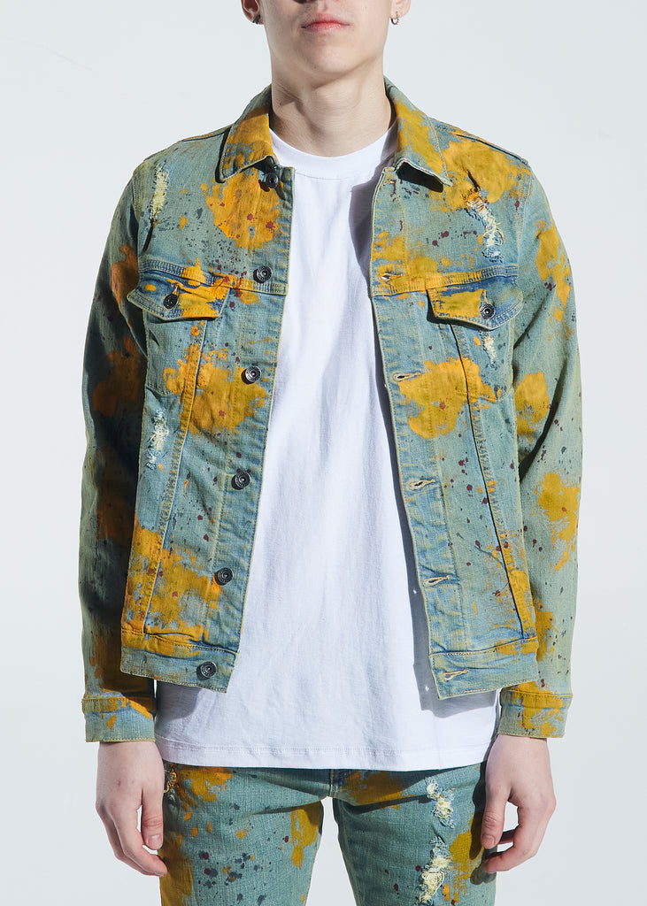 Bering Denim Jacket (Yellow Paint Splatter)