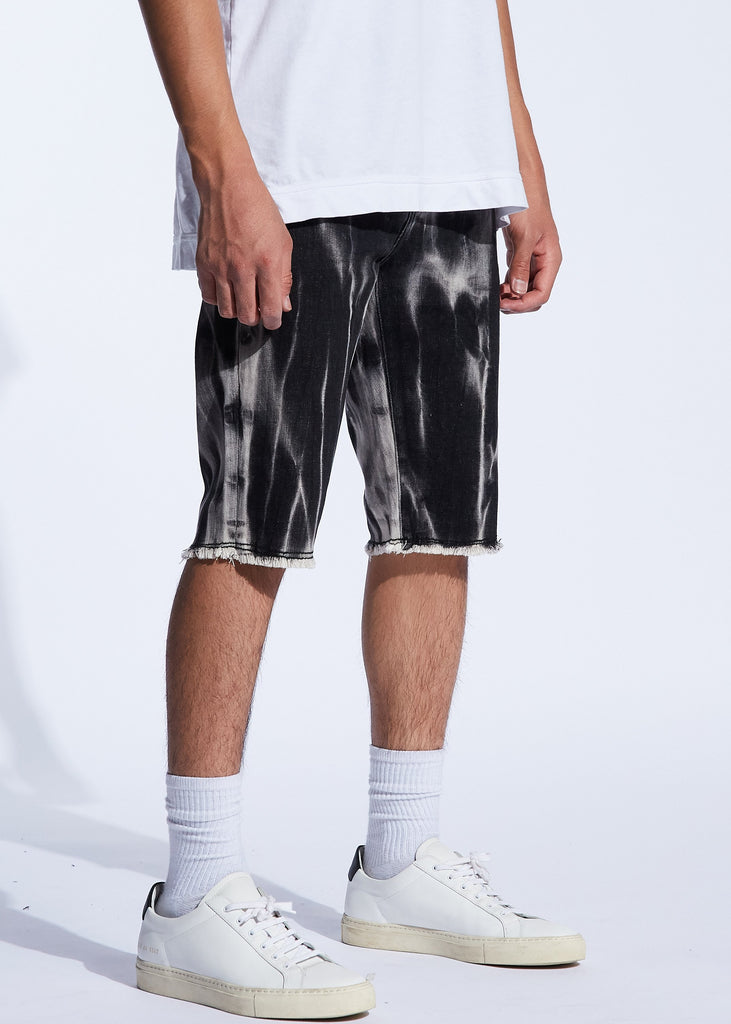 Pacific Denim Shorts (Black Marble)
