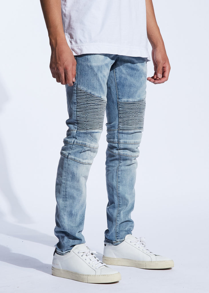 Skywalker Biker Denim (Cloud Blue)