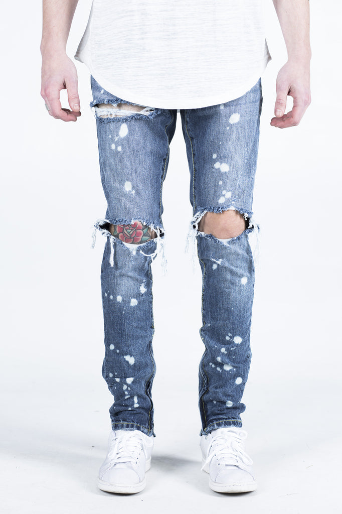 PACIFIC DENIM (BLUE BLEACH RIPPED)