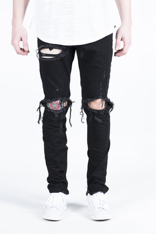 Skywalker Biker Denim (Mid Sky Blue)