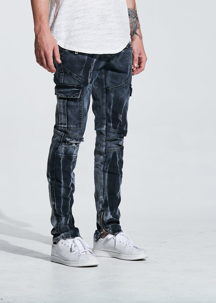 JOEY CARGO DENIM (BLACK BLEACH)