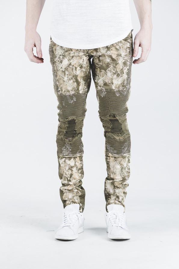 JORDAN BIKER DENIM (DISTRESSED OLIVE)
