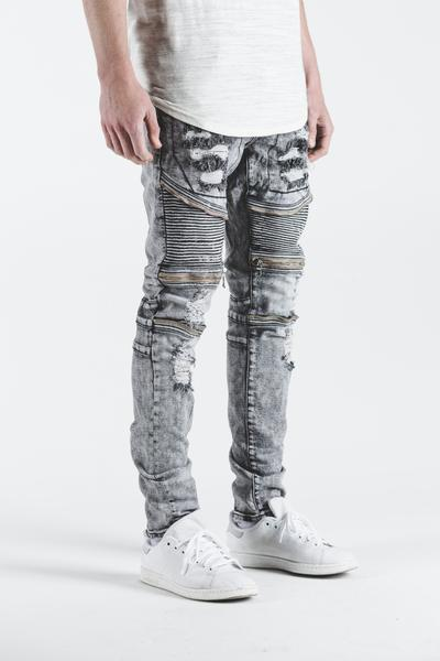 Pete Biker Denim (Grey Acid)