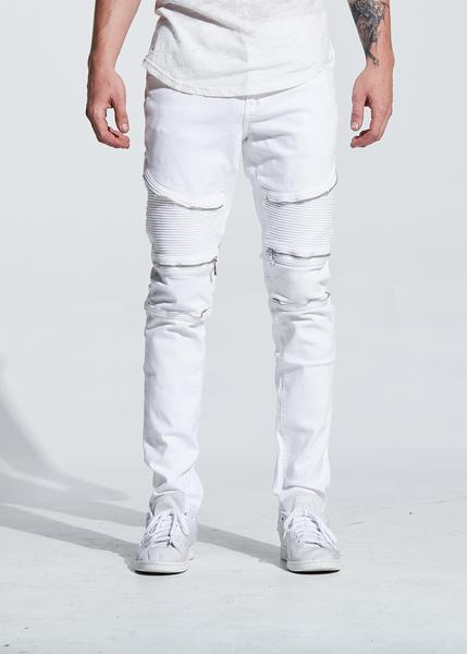 Pete Biker Denim (White)