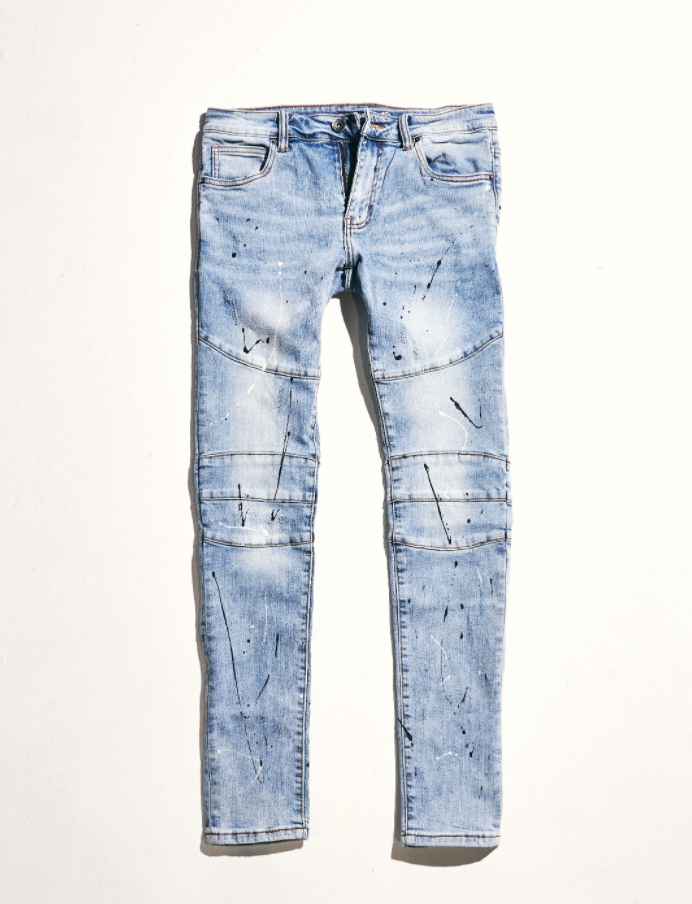 Montana Denim (Light Vintage Paint Splatter)