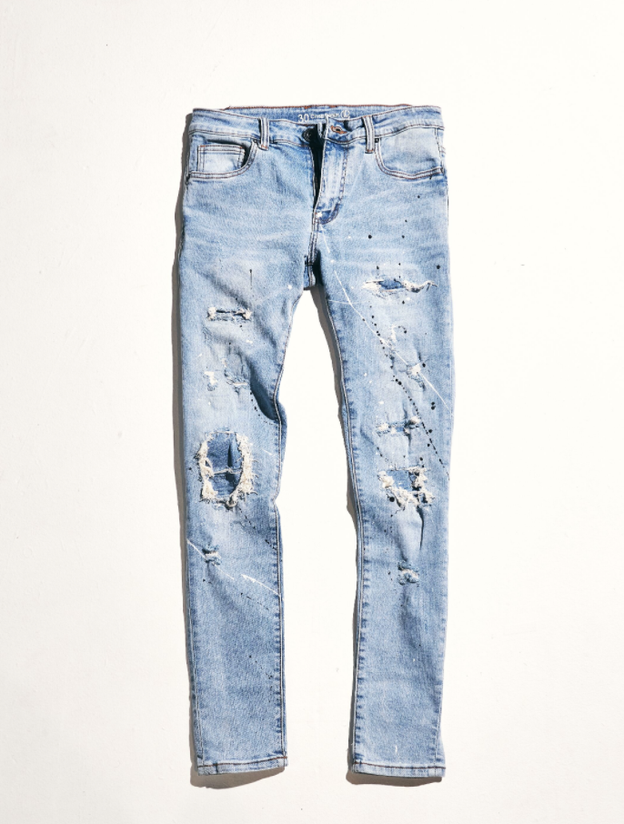 Atlantic Denim (Light Vintage Paint Splatter)
