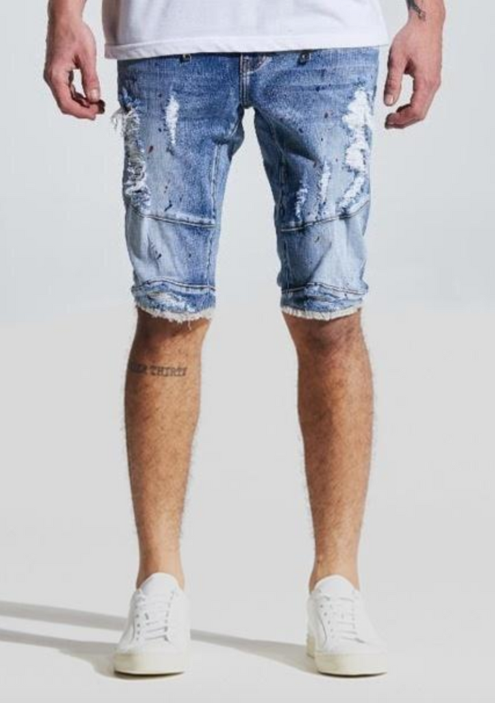 Montana Denim Shorts (Light Blue)