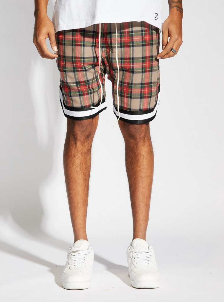 Jordan Ball Shorts (Khaki Plaid)
