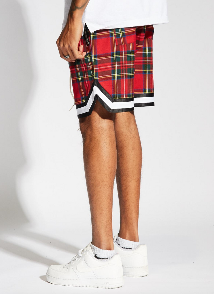 Jordan Ball Shorts (Red Plaid)