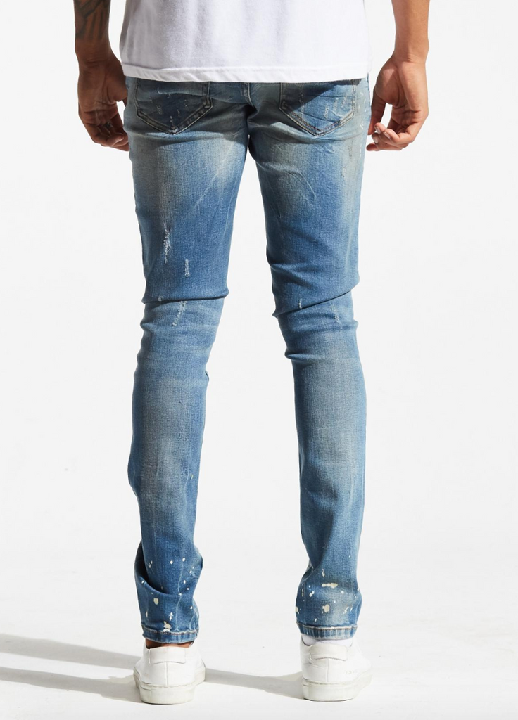 Atlantic Denim (Vintage Blue Rip and Repair)