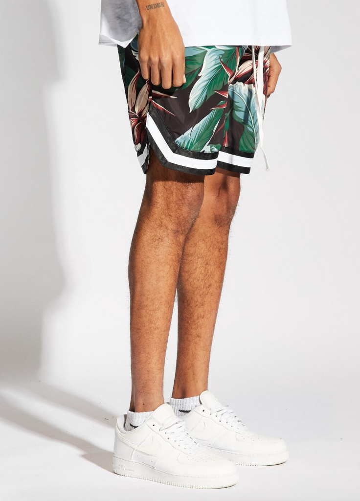 Jordan Ball Shorts Floral (Black/Green)