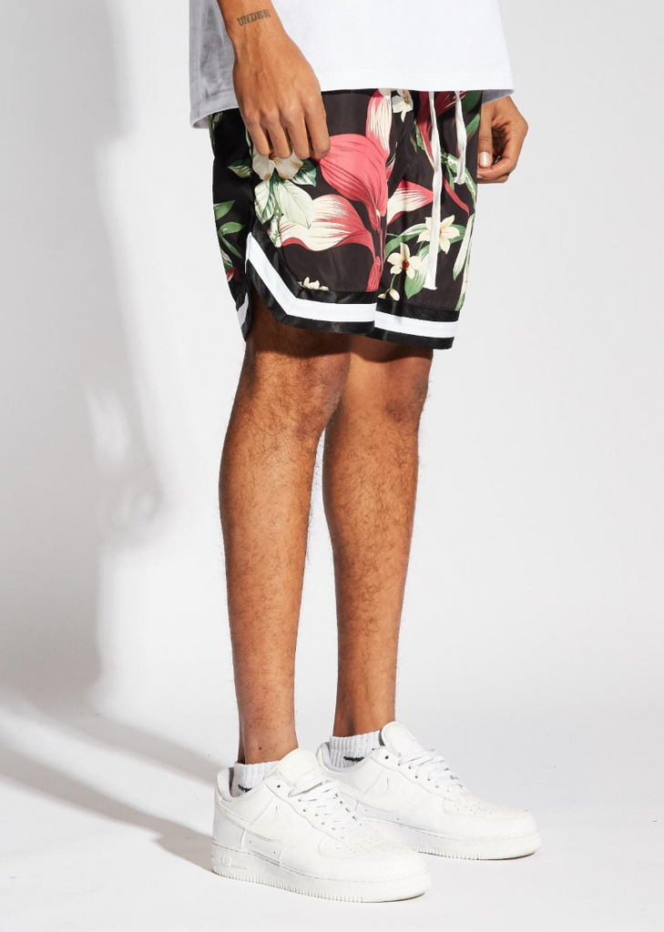 Jordan Ball Shorts Floral (Black/Red)