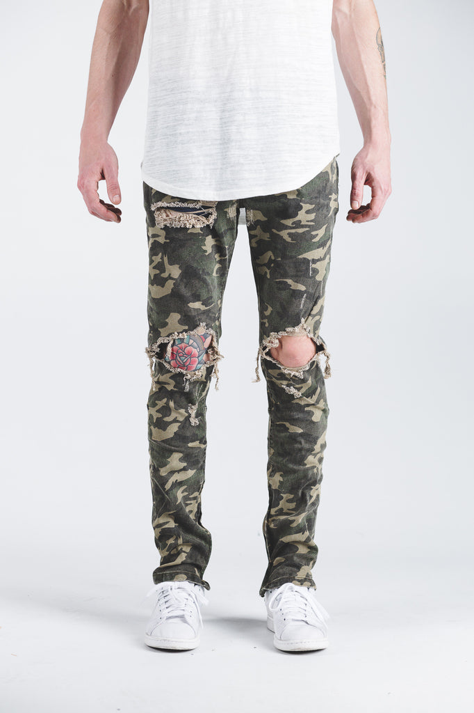 Pacific Denim (Camo Ripped)