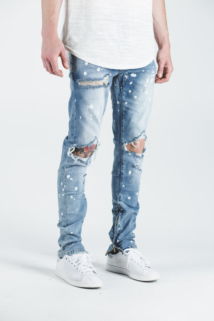 Pacific Denim (Light Blue Bleach Ripped)