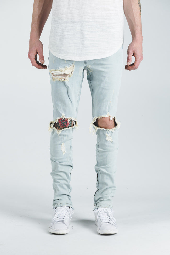 PACIFIC DENIM (LIGHT BLUE RIPPED)