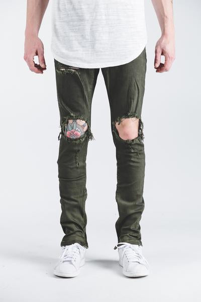 Pacific Denim (Olive Ripped)