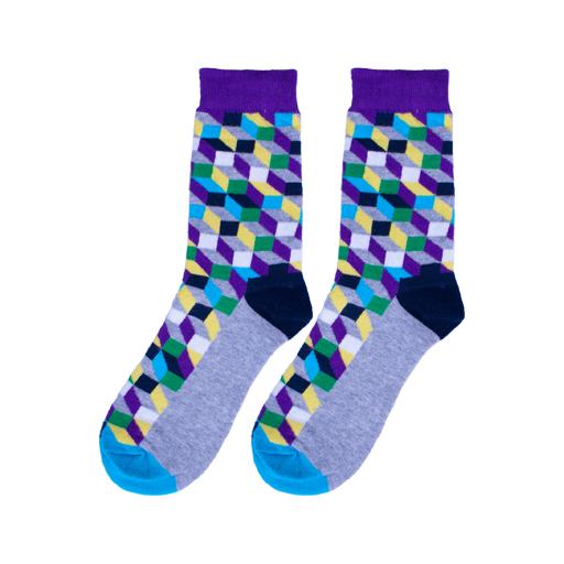 Retro Cube Socks - C&C Socks - Cool & Crazy Socks