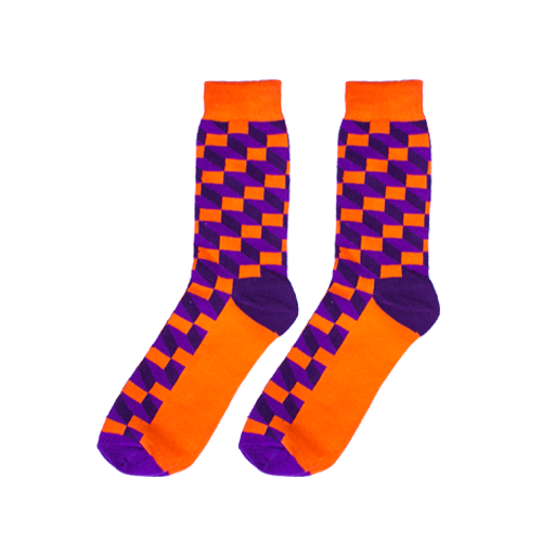 Purple Funk Socks - C&C Socks - Cool & Crazy Socks